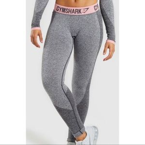 GYMSHARK flex leggings marled grey peach pink XS